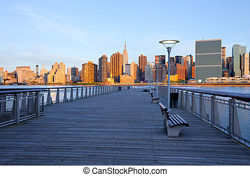 New York City skyline from Queens, United States