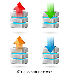 Database - Set of Computer Database with Upload and Download...