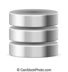 Database icon off Illustration on white background for...