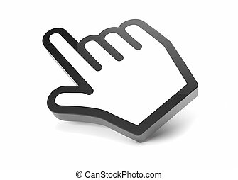 hand cursor - render of a hand cursor icon