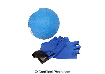 exercise equipment - weighted gloves and squishy ball for...