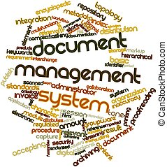 Word cloud for Document management system - Abstract word...