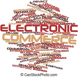 Electronic commerce - Abstract word cloud for Electronic...