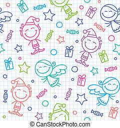 christmas hand drawn pattern
