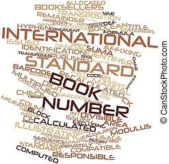 palabra, nube, internacional, estándar, libro,...