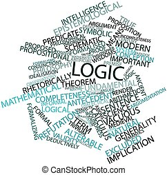 Logic - Abstract word cloud for Logic with related tags and...