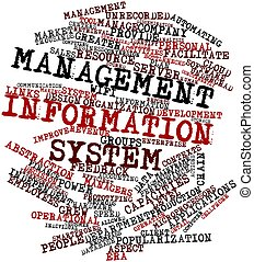 Management information system - Abstract word cloud for...