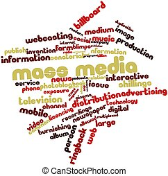 Mass media - Abstract word cloud for Mass media with related...