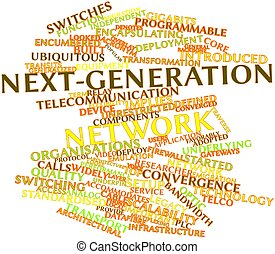 Next-generation network - Abstract word cloud for...