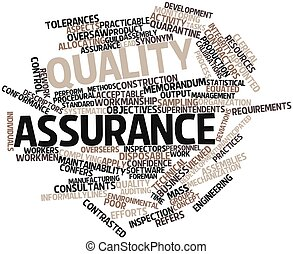 Word cloud for Quality assurance - Abstract word cloud for...