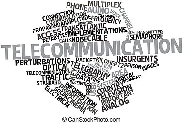Telecommunication - Abstract word cloud for...