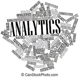 Analytics - Abstract word cloud for Analytics with related...