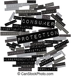 Word cloud for Consumer protection - Abstract word cloud for...