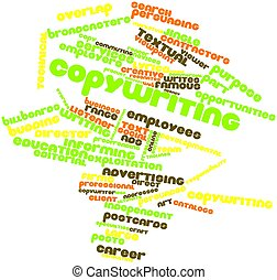 Word cloud for Copywriting - Abstract word cloud for...
