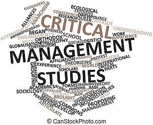 Word cloud for Critical management studies - Abstract word...