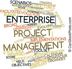 Word cloud for Enterprise project management - Abstract word...