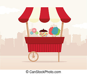 Retro Candy Stand - Retro candy shop.