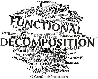 Functional decomposition - Abstract word cloud for...