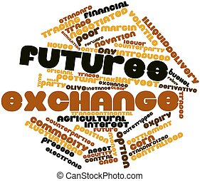 Word cloud for Futures exchange - Abstract word cloud for...