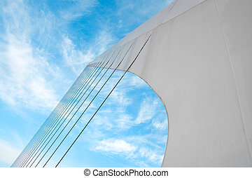 Cables system of Puente De La Mujer Bridge Of The Women...