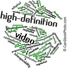 Word cloud for High-definition video - Abstract word cloud...