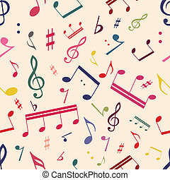 Musical Notes Seamless Pattern - Seamless pattern with...