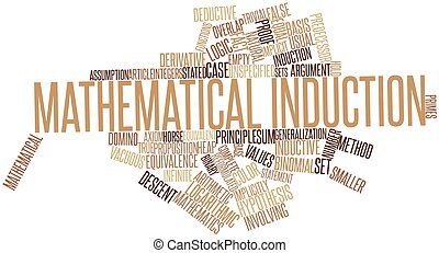 Word cloud for Mathematical induction - Abstract word cloud...