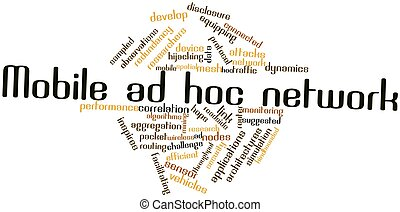 Mobile ad hoc network - Abstract word cloud for Mobile ad...