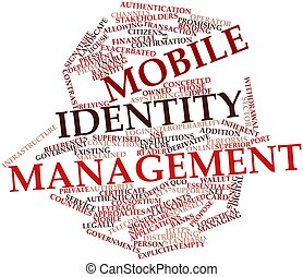 Mobile identity management - Abstract word cloud for Mobile...
