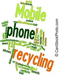 Mobile phone recycling - Abstract word cloud for Mobile...