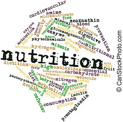 Nutrition - Abstract word cloud for Nutrition with related...