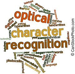 Optical character recognition - Abstract word cloud for...