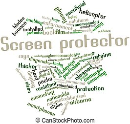 Word cloud for Screen protector - Abstract word cloud for...