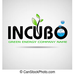logo incubo green energy company design