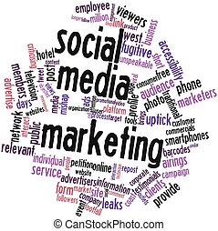 Word cloud for Social media marketing - Abstract word cloud...