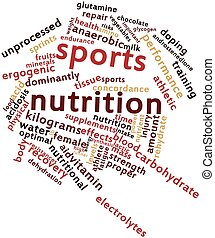 Sports nutrition - Abstract word cloud for Sports nutrition...