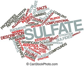 Word cloud for Sulfate - Abstract word cloud for Sulfate...
