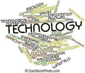 Technology - Abstract word cloud for Technology with related...