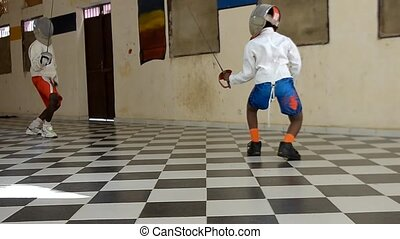 fencing  -  gym of fencing in Africa Senegal