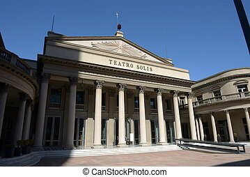 Teatro Solis Montevideo in Uruguay - Building of theater...