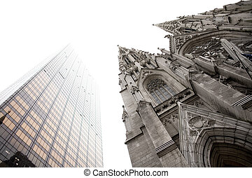 Saint Patrick's Cathedral, Fifth Avenue, Midtown, Manhattan,...
