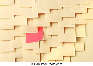 Arrange Postit notes with one of a different color