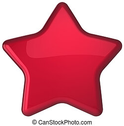 Red star shape award decoration blank. Prestige...