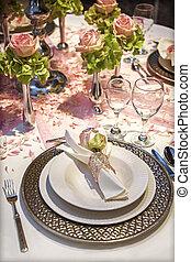 Weding  table - Weding decoration on celebration table
