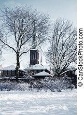 winter dutch village