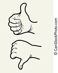 Hand signs 1 - Like and unlike hand signs symbol. Use for...
