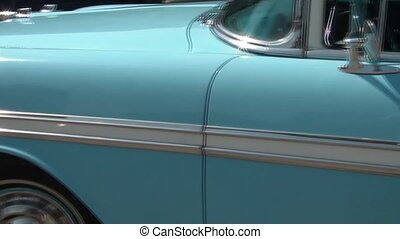 Baby Blue Classic Car Pan - Pan of baby blue and white...