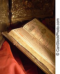 very old Bible - Religion still life with antique Bible