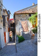 Alleyway. Scalea. Calabria. Italy.