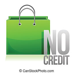 no credit shopping card illustration design over a white...